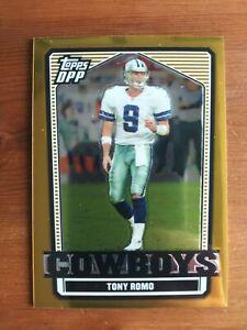 2007 Topps Draft Picks & Prospects Tony Romo Gold Chrome #24/99!