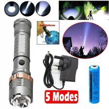 UK High Power 990000Lumens XHP90 Zoom Flashlight LED Rechargeable Torch Headlamp