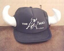 Schlitz Malt Liquor The Bull Snapback Trucker Hat with Horns Vintage 1980's Foam