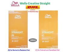 2X 3X WELLA CREATINE STRAIGHT Hair Straightener Straightening Cream N & C