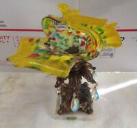 Vintage Italian marble and colored glass candy dish