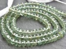 """HAND FACETED GREEN APATITE RONDELLES, 4mm / 4.5mm, 13.5"""", 130 beads"""
