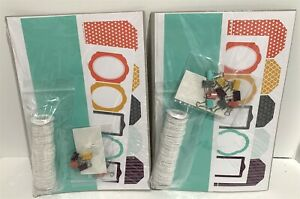 Stampin Up TAG A BAG Accessory Clips Embellishments Card Kit Lot of 2