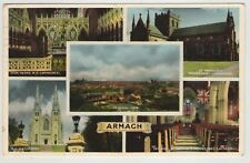 ARMAGH 1957 USED MULTI-VIEW POSTCARD WITH 2 STAMPS PUBLISHED BY GORDON & Co.