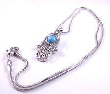 Hamsa Judaica Collar Colgante Kabbalah Mal de Ojo Mano de Fatima encanto de piedra