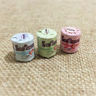 3PCS Roll of Bathroom Tissue Toilet Paper 1:12 Dollhouse Miniature Accessory Toy