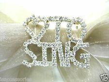 Element Austrian Crystal Rhinestone Brooch Silver Plate Love to Sing Swarovski
