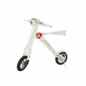 White Lehe k1 E - Scooter w/ Bluetooth Speaker