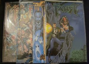 FAUST SINGHA'S TALONS PREVIEW 1/2 1-4 AVATAR VARIANT COMIC SET COMPLETE 2000 NM