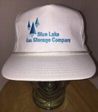 Vintage BLUE LAKE GAS STORAGE COMPANY Hat Cap Strapback Rope Cord OIL  USA
