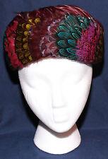Original Vintage 1940s Feather Hat Charmette New York