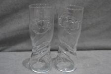 More details for 2x fanta embossed hiball glasses long drink glass tumbler 16cm new 27cl 270ml