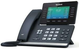 """Yealink SIP-T54W 4.3"""" VOIP Wi-Fi Gigabti Ethernet Wired Handset Business Phone"""