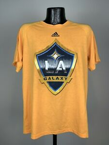 Men's Adidas Ultimate Tee Los Angeles Galaxy Gold MLS Soccer Graphic Tee Large