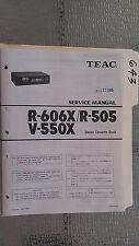 Teac r-606x 505 v-550x Service Manual Original Reparatur Buch Stereo Tape Player