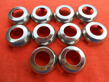 10 GM CADILLAC NOS FIBER OPTIC DOOR TRUNK LOCK CYLINDER CHROME CAPS 1979 - 1990