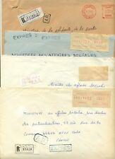 Algerie Algeria 9 Registered cover expres lettre recommandée Oran Tigzirt