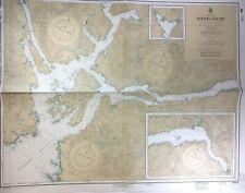 Vtg NOOTKA Island SOUND GOLD RIVER Nautical CHART VANCOUVER ISLAND Canada BC MAP