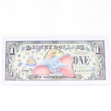 Disney Dollars Dumbo Disneyland 50th One Dollar Bill D1465308