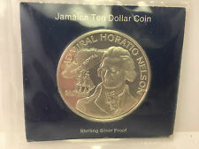1976 Jamaica Proof $10 sterling silver Coin Admiral Horatio Nelson Franklin Mint