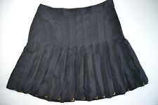 VERSACE fo H&M pure silk women skirt in black color, size S, UK size 8, VGC