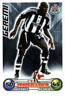 Newcastle United F.C Geremi Hand Signed 08/09 Championship Match Attax.