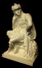 Statue of Seated Greek Soldier Art Sculpture Roman17002