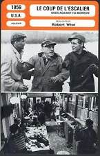 COUP DE L'ESCALIER - Belafonte,Ryan,Wise(Fiche Cinéma)1959 Odds Agaisnt Tomorrow