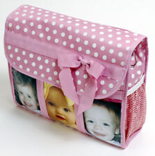 Pink w/Bow Diaper Baby Picture Photo Messenger Bag NEW