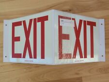 Accuform Glow-In-The-Dark Projection EXIT Sign - 3D 45° Protrusion Wall Mount