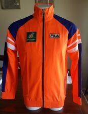 Tennis Jacket FILA BNP Paribas Open Jacket WarmUp Mens Unisex Orange size XL