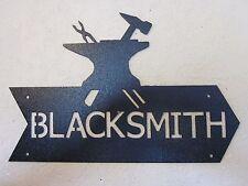 CUSTOM  BLACKSMITH AND ANVIL SIGN TEXTURED BLACK POWDER COAT FINISH
