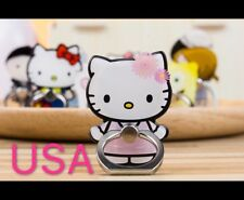 Hello Kitty Cartoon Finger Ring Holder 360 Rotating Stand For Any Cell Phone