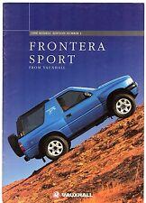 Vauxhall Frontera Sport 1997-98 UK Market Sales Brochure 2.0i 2.5 TDS Sport S