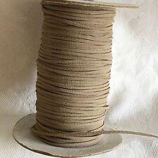 5m di 3mm In Finta Pelle Scamosciata Corda String Tanga in Fawn #1025