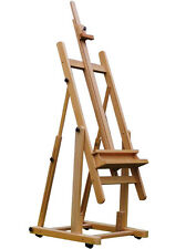 Extra Large Deluxe Painting Easel H-Frame Art Adjustable Wood Studio w Tilt E026