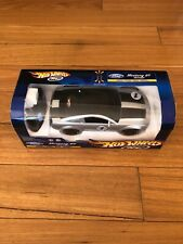 RARE, Ford Mustang Gt Concept silver remote control car, hot wheels, 1:16 scale.