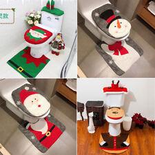 Weihnachtsdeko Nikolaus Santa Tank Toiletten Sitzbezug Badezimmer WC Deckel Set
