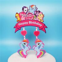 🌈 My Little Pony Cake Toppers. Party Supplies Lolly Loot Bag Food Banner Flag