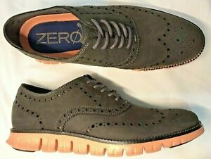 New COLE HAAN ZEROGRAND C29672 Wingtip Ox Magnet Suede-Canyon Sunset Sz. 9M $190