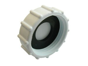 """Washing Machine Appliance Waste Pipe Trap Blanking Cap and Washer   1"""" BSP"""