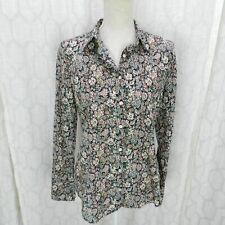 J. Crew Sz 8 Liberty Floral Print Slim Perfect Shirt
