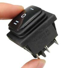 Imperméable 12 V 6Pin DPDT verrouillable ON-OFF-ON Rectangle Rocker Switch