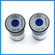 Carl Zeiss Kpl 8x Microscope Eyepieces 23mm Usa Seller