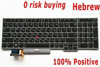 For Lenovo ThinkPad L590 T590 P52 P72 Keyboard Hebrew Backlit Not fit P52s מקלדת
