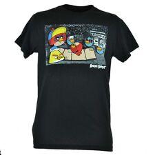 Angry Breakin Birds Video Game Hip Hop Boom Box Scene Tshirt Black Tee