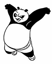 Kung Foo Panda vinyl car Decal / Sticker
