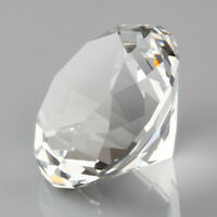 """Clear Crystal Diamond Cut Shape Paperweights 60mm/2.36"""" Glass Gem Home Display"""