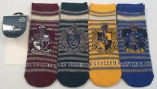 PRIMARK LADIES HARRY POTTER HOUSE TEAMS STRIPE 4 SHOE LINER TRAINER SOCKS UK 4-8