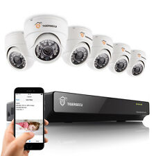 8CH DVR Security CCTV System 6x 800TVL Indoor Dome Camera Motion Detection Tiger
